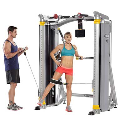Mi7 Smith Machine Lady and Man using Pulleys