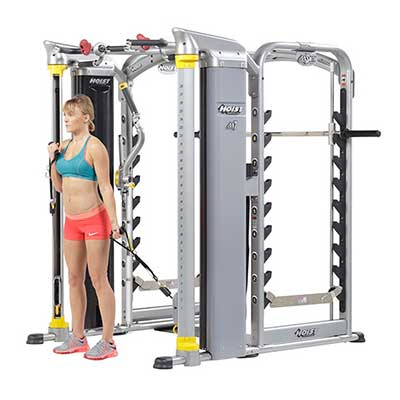 Mi7 Smith Machine Lady Using Pulleys